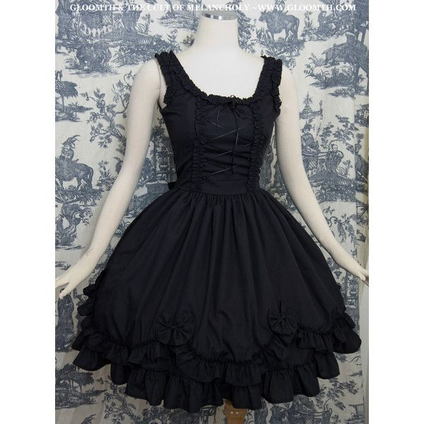Gloomth- Valance Corset Tea Party Dress ❤ liked on Polyvore featuring dresses, lolita, plus size cocktail dresses, gothic corset, corset dress, tea dress and womens plus dresses