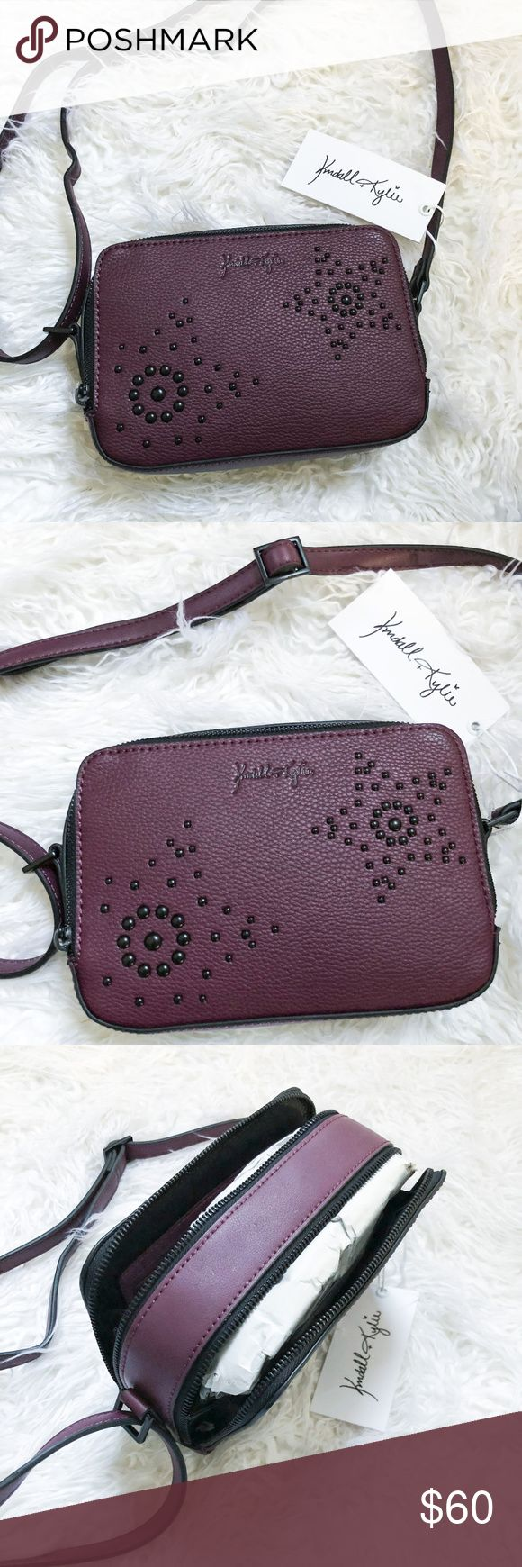 Kendall & Kyle Dark Purple Shoulder Bag Very unique Kendall + Kyle Dark Purple Shoulder Bag!  Brand new. It has two zippers with plenty of storage. Very trendy style! Kendall & Kylie Bags Shoulder Bags