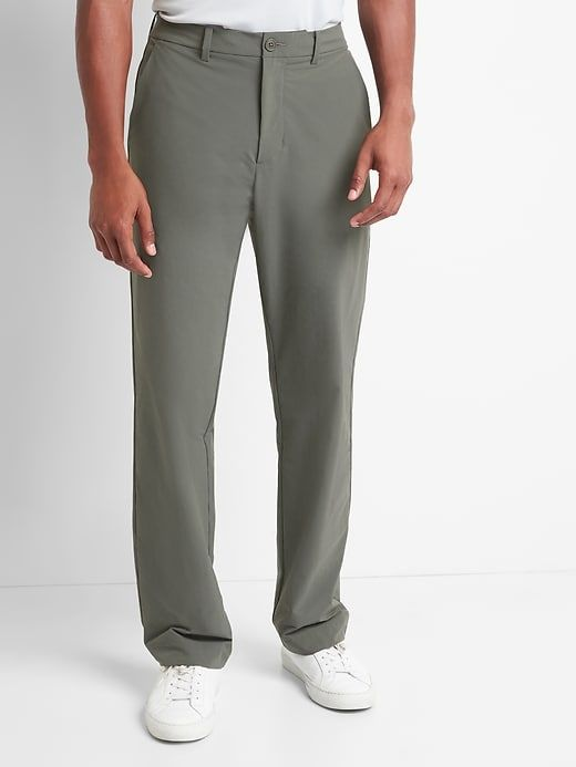 Gap Mens Gapfit Performance Straight Fit Khakis Pavement