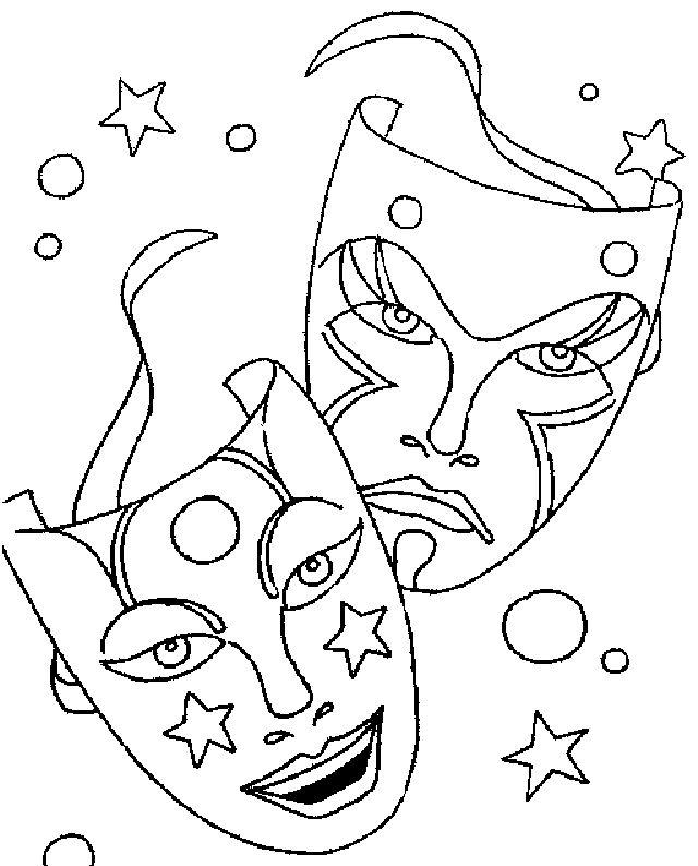 Desenhos para Pintar: Mascaras de Carnaval para Colorir                                                                                                                                                                                 Mais