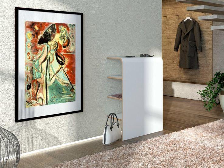 Shoe cabinet / hallway unit PLATZ | Contemporary style shoe cabinet by Tojo Möbel