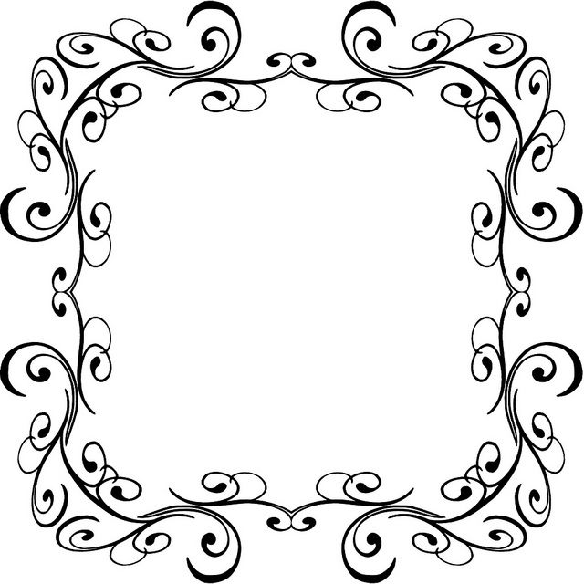 Calligraphy Borders Transparent Background 6957992164