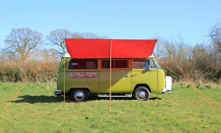 VW Campervan Awning/Sun Canopy - Chianti Red