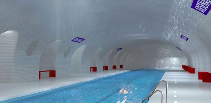 Abadoned metro station in Paris are transformed to beautiful swimming pools - De Standaard