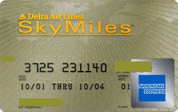 Delta SkyMiles AMEX Gold (American Express, United States of America) Col:US-AE-0144
