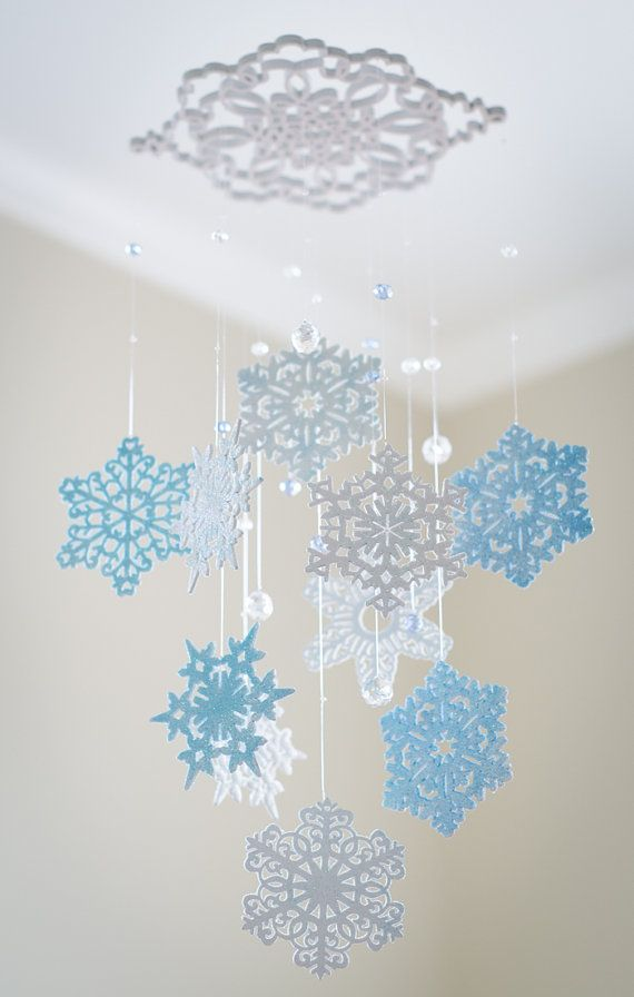 I like the crystals and the large snowflake from which it hangs.