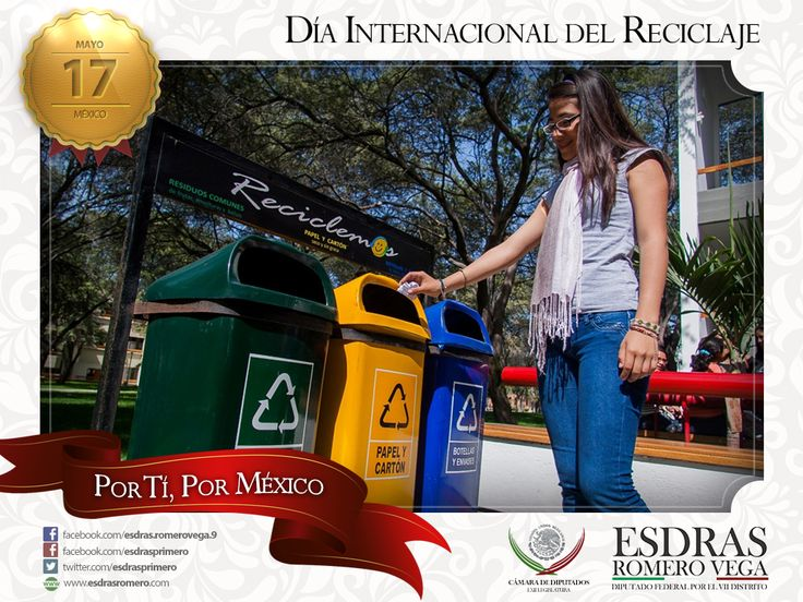 Amigas y amigos, los invito a que este día tomemos conciencia sobre la importancia que tiene cuidar el medio ambiente. Reduce, Reutiliza, Recicla. ¡Día Internacional del Reciclaje!. #Madero #Altamira #Aldama  Excelente martes, saludos.
