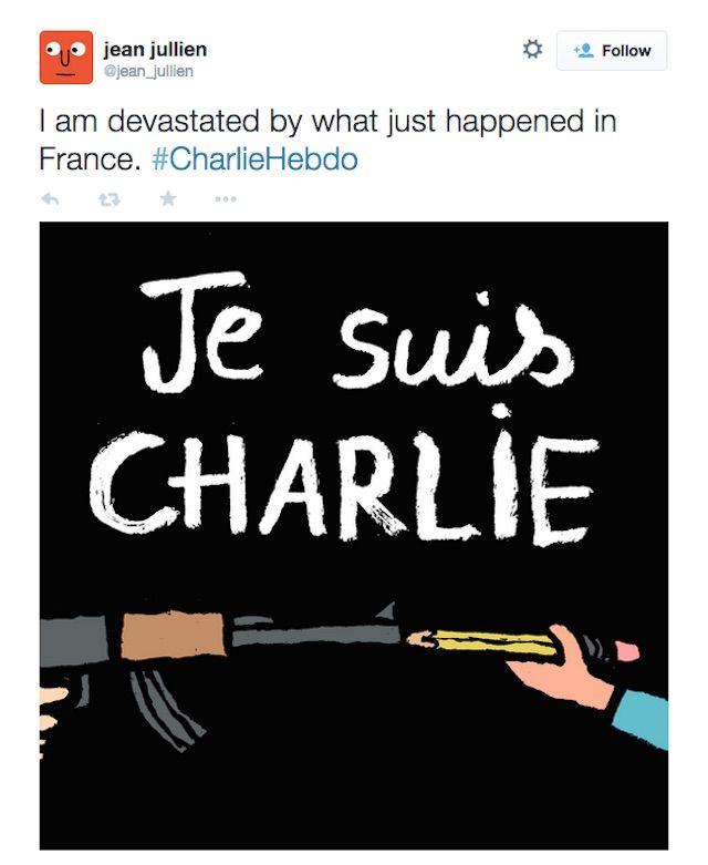 """Jean Jullien, """"Je Suis Charlie"""" (2015) (via jean_jullien/Twitter)"""