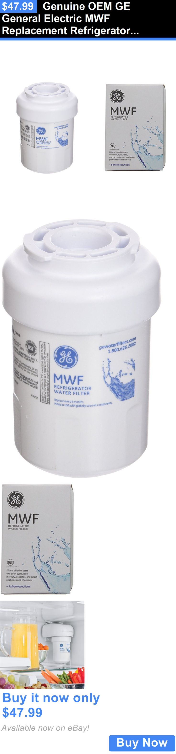 Major Appliances: Genuine Oem Ge General Electric Mwf Replacement Refrigerator Water Filter New BUY IT NOW ONLY: $47.99