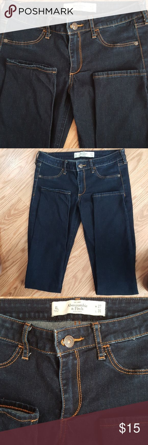 Abercrombie & Fitch Dark Blue Abercrombie and Fitch ladies jeans. W27, L31 Abercrombie & Fitch Jeans Skinny