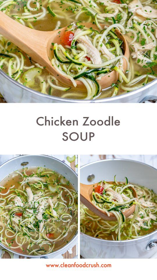 Eat This Nourishing Chicken Zoodle Soup To Lower Inflammation And