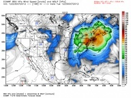 Will Tropical Storm Sandy Threaten U.S. East Coast? As Tropical Storm Sandy intensifies in the Caribbean, likely to reach hurricane strength before striking Jamaica on Wednesday, weather forecasters are warily watching its potential to impact the U.S. East Coast in a major way. Many computer model simulations of Sandy's eventual path continue to show a rare event taking place early next week in which Sandy may tap into an intense area of energy at the upper levels of the atmosphere,