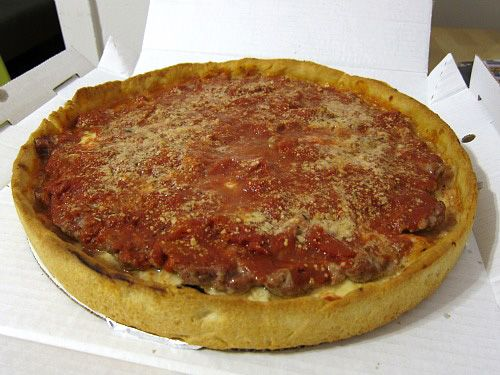 I've tried the other big names in town, I figure it is about time to try this one too:  Lou Malnati's deep dish pizza