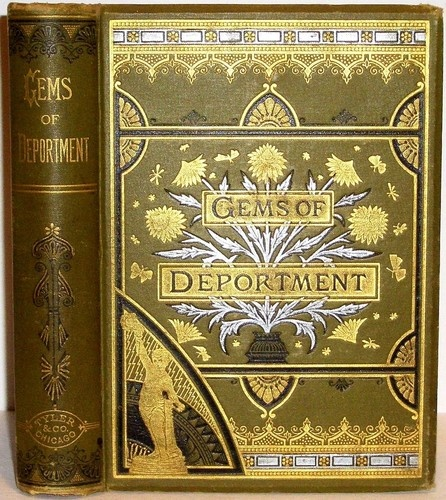 1882 Etiquette Antique Victorian Book Manners Home Fashion Dress Toilet Recipes | eBay
