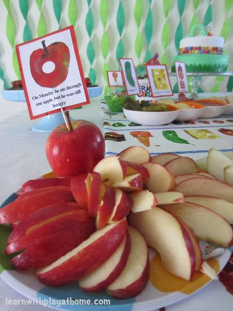 Very Hungry Caterpillar Party. Perfect for a first birthday or school/preschool party!