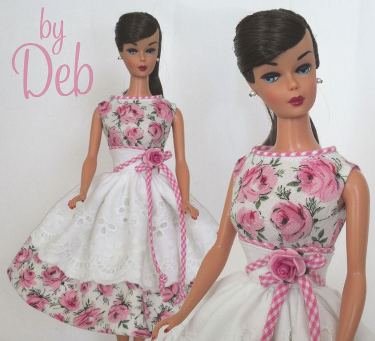 Ice Cream Social - Vintage Barbie Doll Dress Reproduction Repro Barbie Clothes
