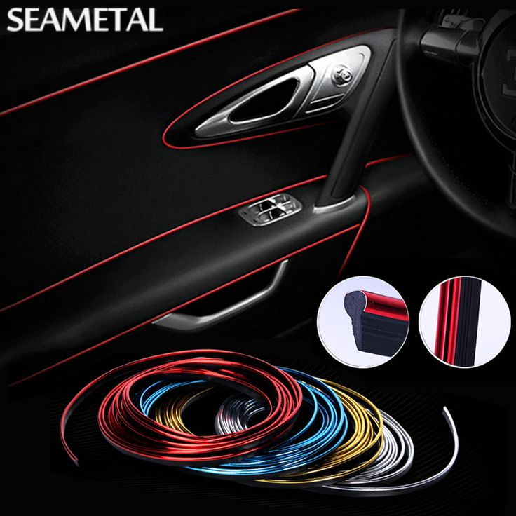 5M Car Styling 3D Car Sticker and Decals Interior Decorative Thread Stickers Type Decoration Strip Car-Styling Auto Accessories
