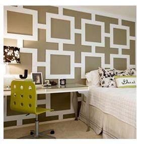 Geometric Molding Wall