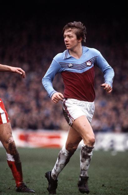 West Ham United's Alan Curbishley circa 1974-75.