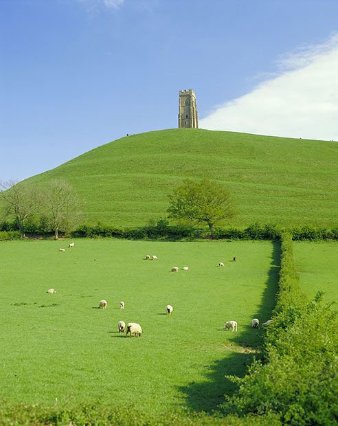 Legend has it that Glastonbury Tor stands on the site of ancient     Avalon, the island where King Arthur's sword Excalibur was forged.