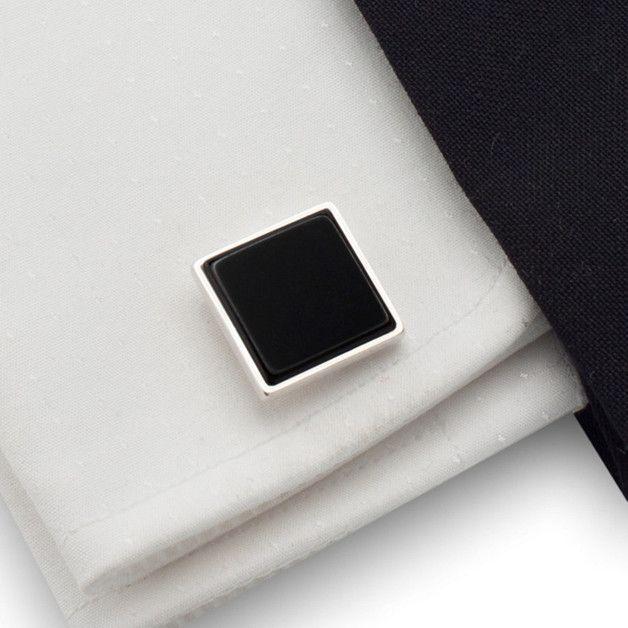 Manschettenknöpfe - Sterling Silber Manschettenknöpfe   Schwarzer Onyx - ein Designerstück von ZaNa-Design bei DaWanda