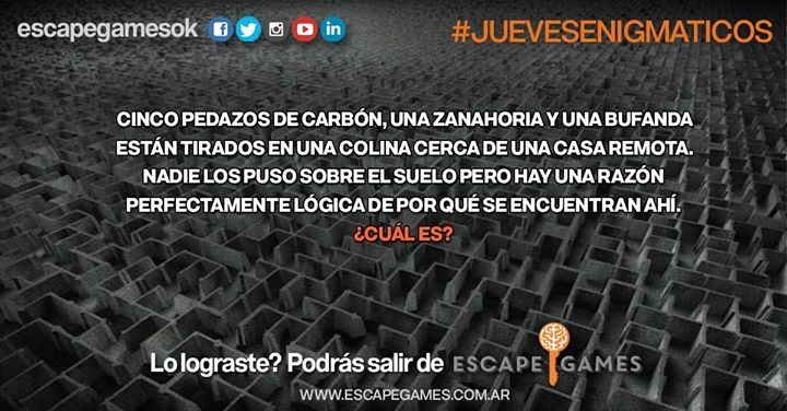 Los Jueves en Escape Games son #Juevesenigmáticos! El enigmático de hoy consiste en deducir cómo llegaron los elementos al suelo !  Entrar es fácil.. Salir depende de vos! #fashion #style #stylish #love #me #cute #photooftheday #nails #hair #beauty #beautiful #design #model #dress #shoes #heels #styles #outfit #purse #jewelry #shopping #glam #cheerfriends #bestfriends #cheer #friends #indianapolis #cheerleader #allstarcheer #cheercomp  #sale #shop #onlineshopping #dance #cheers #cheerislife…