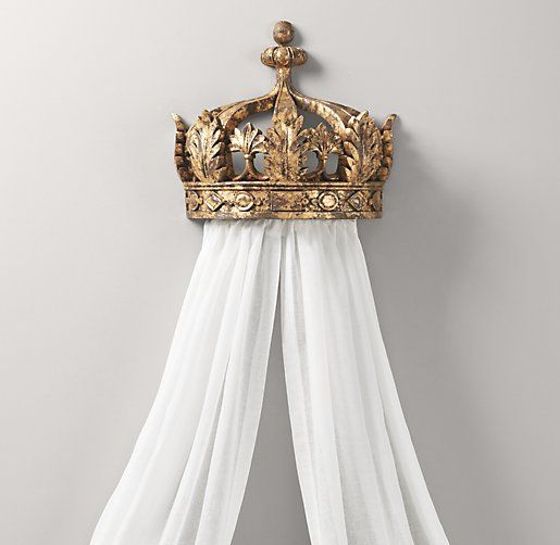 Demilune Gilt Crown Bed Canopy | Accents | Restoration Hardware Baby & Child
