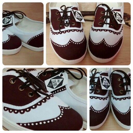 zapatos estilo vintage pintados a mano pintura en tela