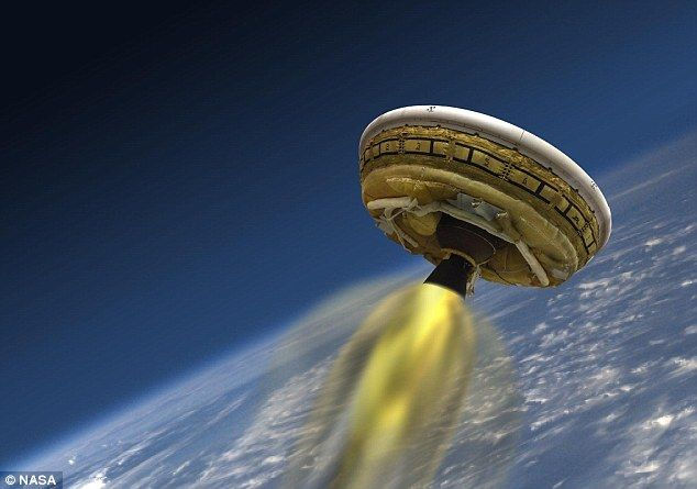 The spacecraft is then placed on a trajectory to Mars, accelerated to high speed by rocket engine, then left to coast until it reaches the planet.