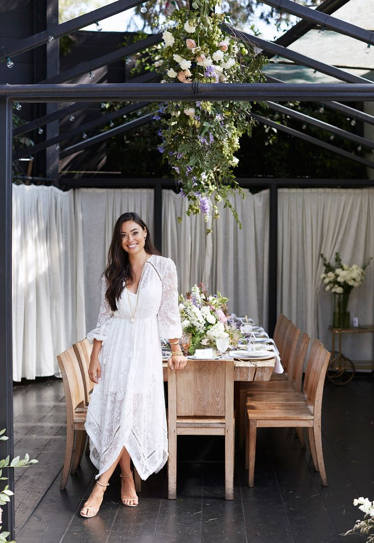 With Love From Kat // A Summer Brunch. White lace asymmetric midi dress+nude ankle strap heeled sandals. Summer Dressy Casual / Lunch Outfit 2017