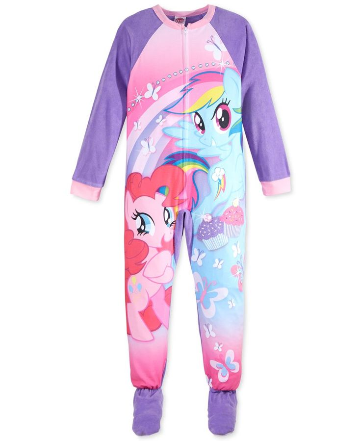 My Little Pony Girls' or Little Girls' One-Piece Footed Pajamas