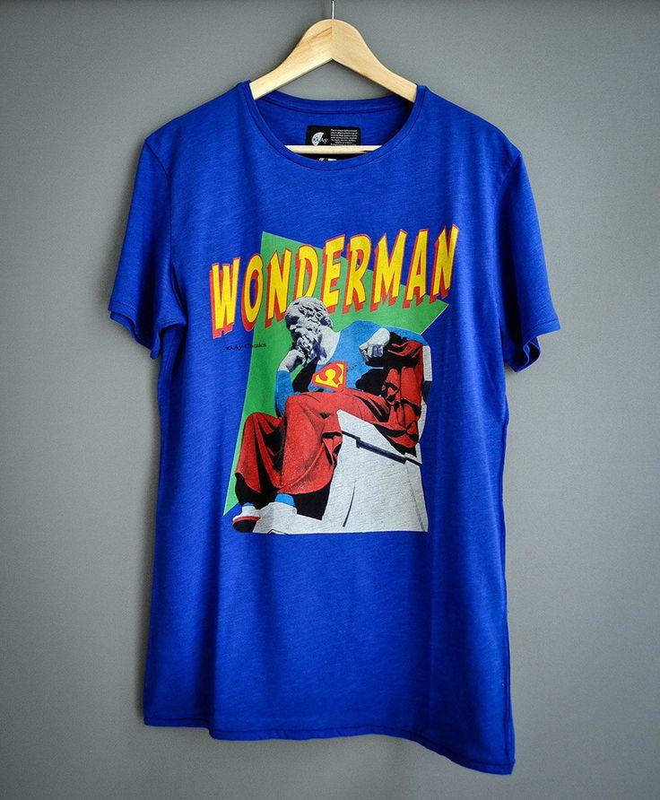 Wonderman by PlayShirts on Etsy #play_shirts #tshirt #super_hero #socrates #popart #philosophy #philosophers #ancient_greece #comics #printed_tee