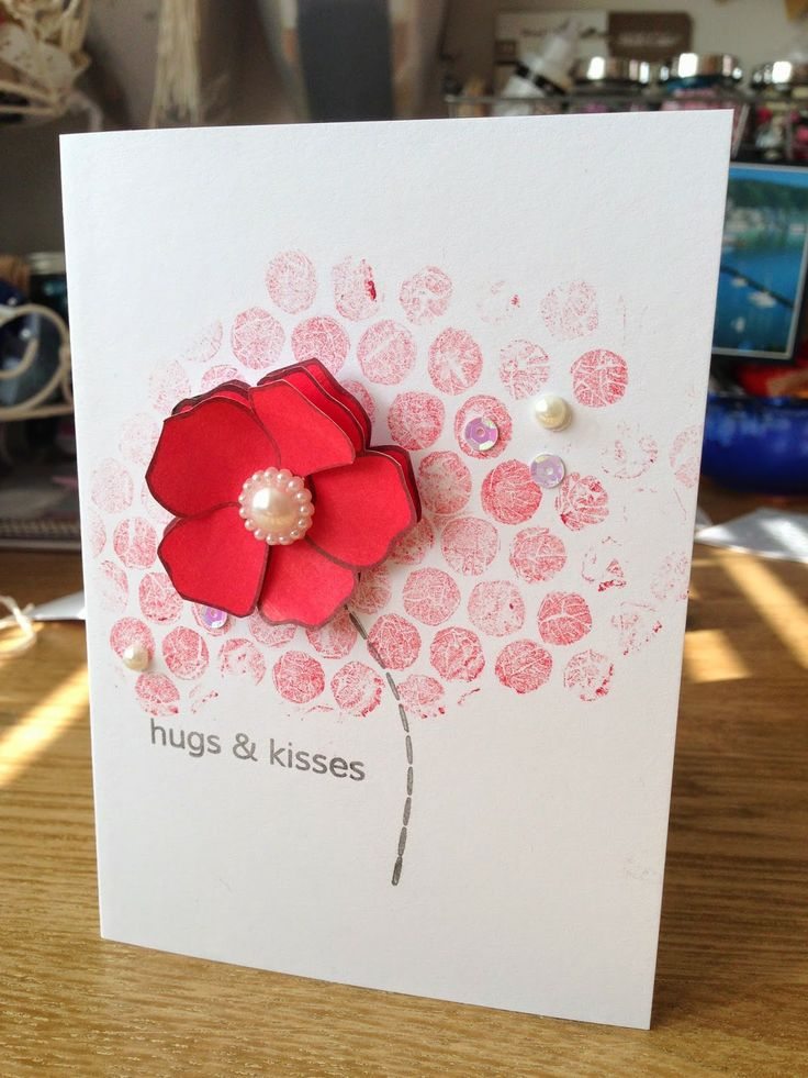 The April edition of SIPIDI! over at Boys, Bugs and.....:Beautiful Buttons ~ A beautiful layered flower card