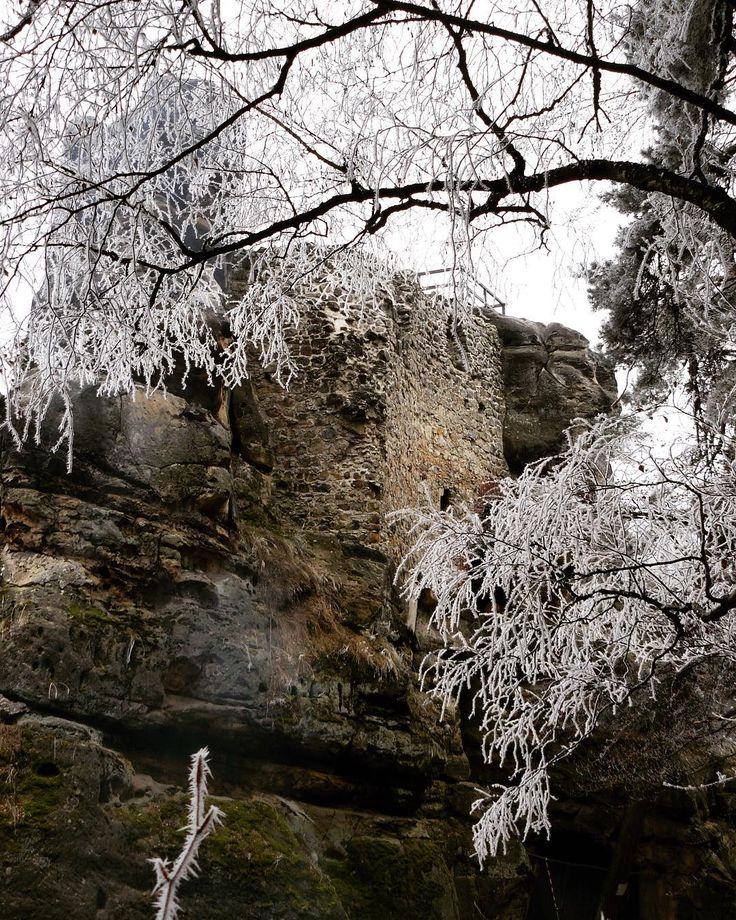 #castle #castleruin #rocks #walking #klubkocestuje #naturelovers Dobyli jsme hrad, ale bylo zavřeno.🎄🍃❄️