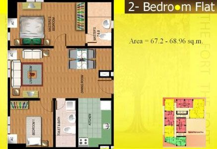 Fort Residences - 2-Bedroom Unit Floor Plan #manilacondo #bestcondo #condominium http://www.mymanilacondo.com/