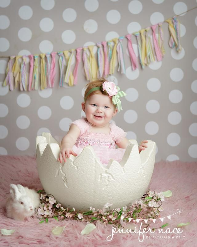 Set aside some time to photography the babe on Easter. Get creative with fun poses such as this.