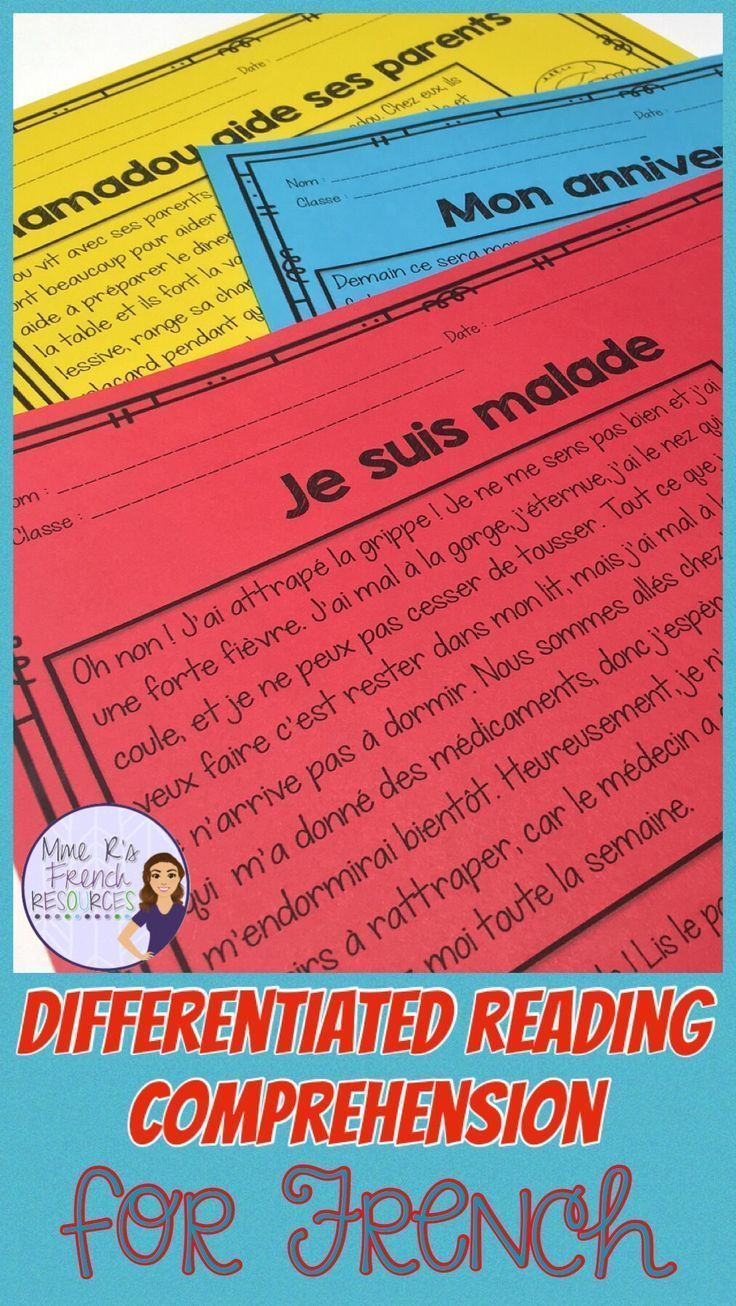 hight resolution of French reading comprehension   Reading comprehension