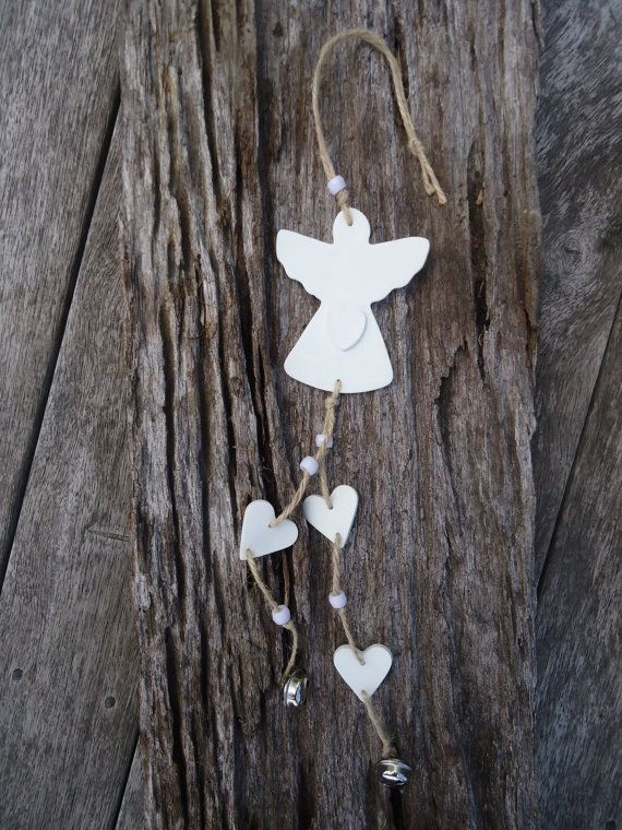 Clay Angel Mobile by MYMIMISTAR on Etsy
