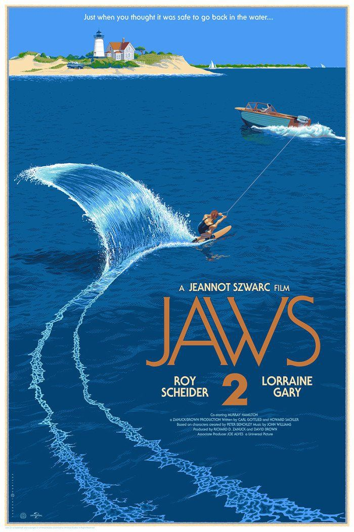 Jaws 2 by Laurent Durieux
