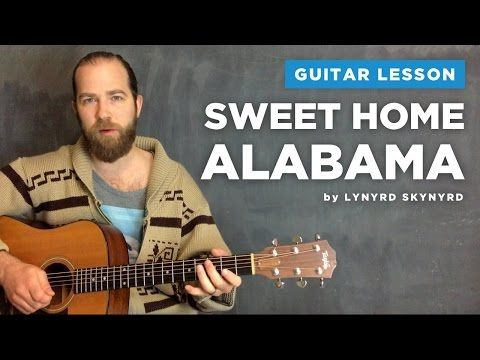 "Guitar lesson for ""Sweet Home Alabama"" by Lynyrd Skynyrd (acoustic) - YouTube"