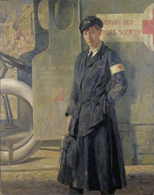 A Voluntary Aid Detachment Motor Driver by Gilbert Rogers. Date painted: c.1918–1919