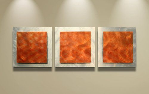 Orange Wall Art Essence 38x12 In Fiery Red