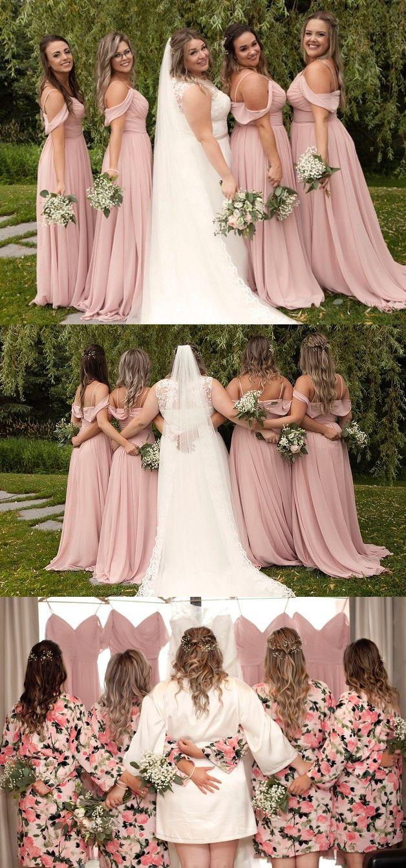 76a53b0c2c82 blush pink long bridesmaid dresses, 2019 bridesmaid dresses, cheap  bridesmaid dresses under 100 #bridesmaiddresses #blushpink  #weddingpartydress #chiffon # ...