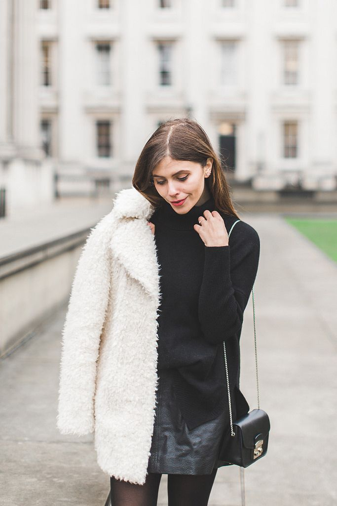 Black & White / Fluffy Coat