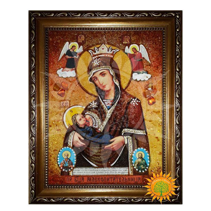 Млекопитательница Икона Божией Матери из янтаря - Amber stone