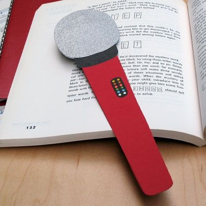 lights camera action - Microphone Bookmark
