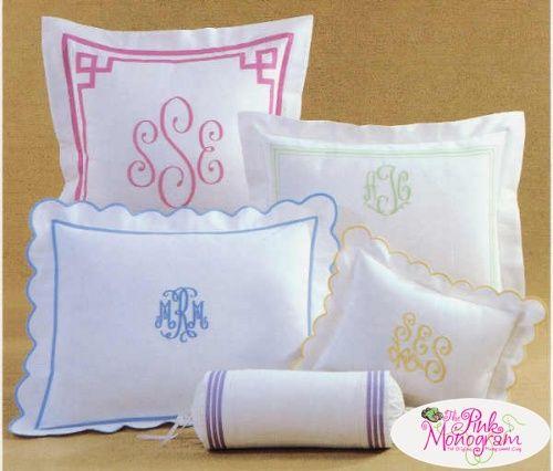 Linen Monogram Throw Pillow: 1000+ Ideas About Monogram Pillows On Pinterest