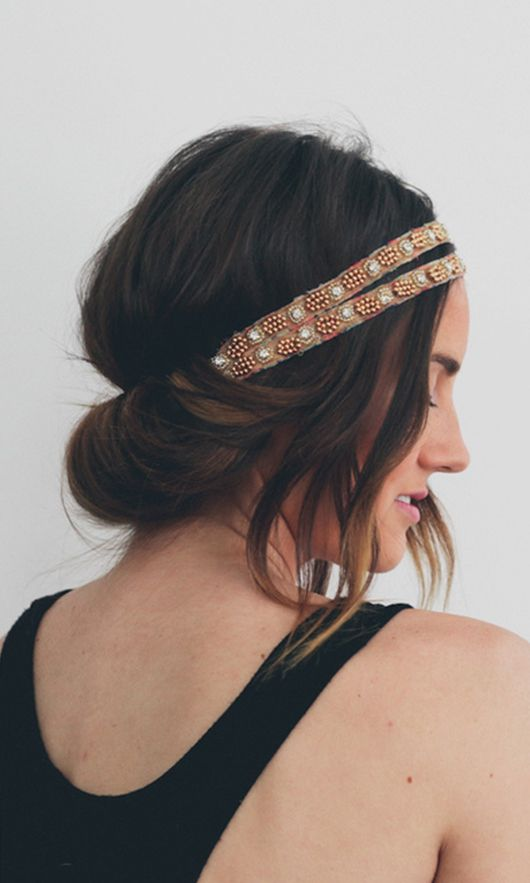 Headband Tuck Tutorial via Treasures and Travels Blog