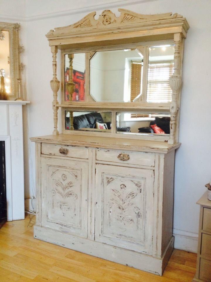 STUNNING ��Victorian Dresser sideboard Cabinet Cupboard Shabby Chic
