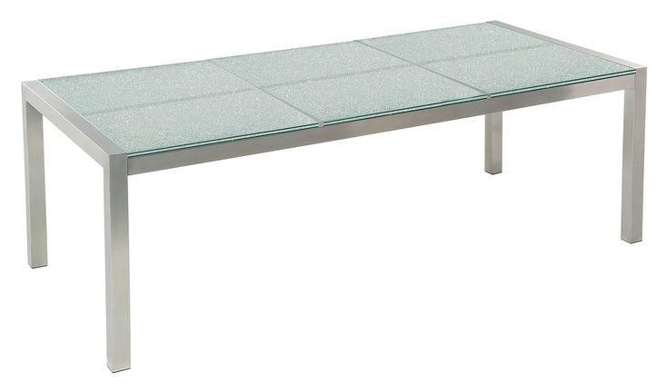 Table De Jardin Plateau Granit Noir Poli 180 Cm 6 Chaises En Rotin